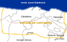 Borders of the Duchy of Cantabria