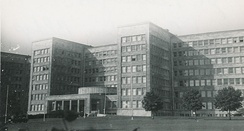 EUCOM headquarters in the IG Farben Building, Frankfurt, 1952
