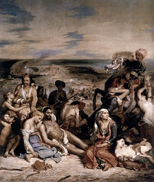 The Chios Massacre refers to the slaughter of tens of thousands of Greeks on the island of Chios by Ottoman troops in 1822.
