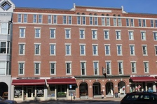 Across from the state capitol, the former Eagle Hotel on Main Street, was a downtown landmark in Concord from its opening in 1827 until it closed in 1961. It was added in 1978 to the National Register of Historic Places.
