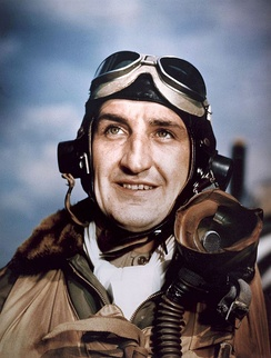 "P-47 pilot Lt Col Francis S. ""Gabby"" Gabreski, 56th Fighter Group, leading ace of the 8th Air Force"