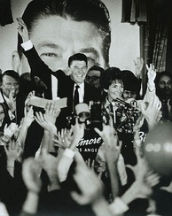 Ronald and Nancy Reagan celebrate his gubernatorial victory at the Biltmore Hotel, Los Angeles