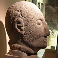 A local Iron Age head warrior from Rubiás, Bande. Now in Museo Provincial de Ourense.