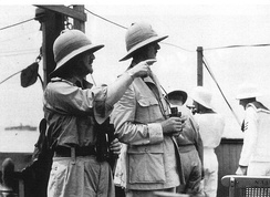 British General Spears and French General de Gaulle en route to Dakar.