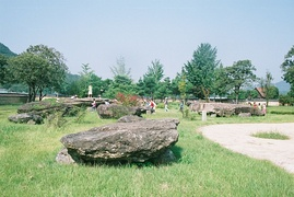 Capstones of southern-style megalithic burials in Guam-ri, Jeollabuk-do, Korea