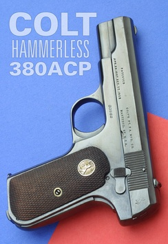 The .380 ACP Colt Model 1903 Pocket Hammerless uses simple blowback. The mass of the slide is enough to delay opening of the chamber until pressure has dropped.