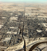 Lower-density Canadian suburban development on the fringe of the Calgary Region