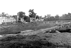 The Jallianwalla Bagh in 1919, a few months after the massacre which had occurred on 13 April