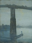 James Abbot McNeill Whistler, Nocturne: Blue and Gold - Old Battersea Bridge (1872), Tate Britain, London, England