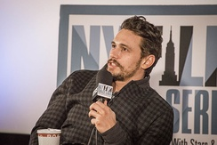 Franco at the New York Film Critics Series première of Child of God.