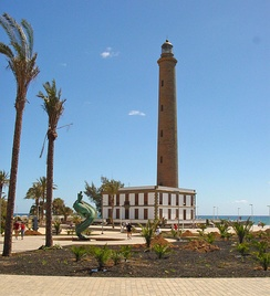 Maspalomas Lighthouse at the southern end of the island