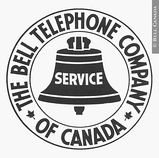 The Bell Telephone Company of Canada logo with maple leaves, 1922–1940