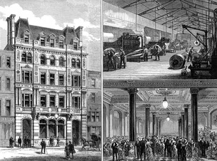 In 1882 The Daily Telegraph moved to new Fleet Street premises, which were pictured in the Illustrated London News.