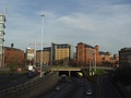 A58(M), Leeds Inner Ring Road passing underneath the Nuffield Hospital