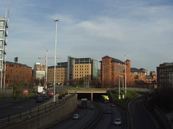 The Leeds Inner Ring Road in England was built in a series of tunnels to save space and avoid physically separating the city's centre from its suburbs.