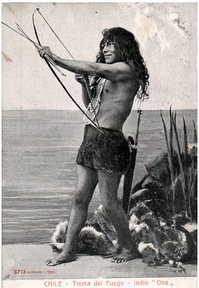 A member of the Selknam people, 1904. The Selk'nam, or Ona, who traditionally placed great value on amiability, were the island's most numerous native people until their numbers were reduced by disease and genocide in the 19th and 20th centuries.