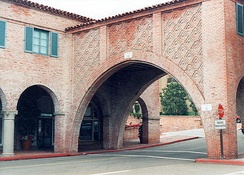 Malaga Cove Plaza was built in a Spanish Renaissance style in 1925.