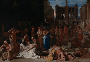 The Plague of Athens (c. 1652–1654) by Michiel Sweerts, illustrating the devastating epidemic that struck Athens in 430 BC, as described by the historian Thucydides
