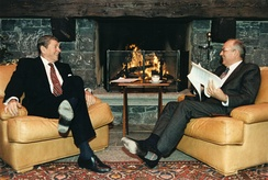 President Reagan and General Secretary Gorbachev, 1985