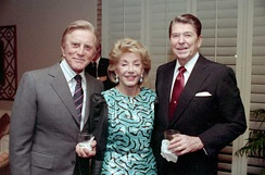 Douglas and wife Anne with President Ronald Reagan, December 1987