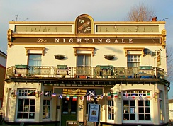 The Nightingale pub (formerly the Jenny Lind)
