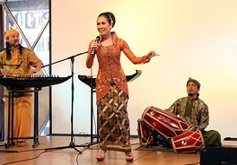 SambaSunda music performance, featuring traditional Sundanese music instruments such as kecapi, suling, and kendang.
