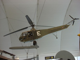 A Vought-Sikorsky Hoverfly, now at Hendon.