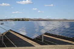 Solar panels at the 550 MW Topaz Solar Farm