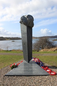 Czech Soldiers' Memorial at Arisaig in western Scotland