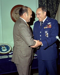 Air Force Chief of Staff General John D. Ryan with U.S. Secretary of Defense Melvin R. Laird.