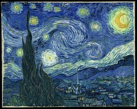 Vincent van Gogh, The Starry Night, 1889, The Museum of Modern Art, New York City. Post-Impressionism