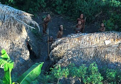 Members of an uncontacted tribe encountered in 2008.