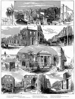 Scenes in Kingston after the 1882 fire.