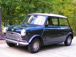 A 1963 Austin Mini Super-DeluxeThe Mini was BMC's all-time best seller.