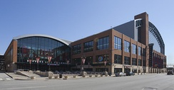 Bankers Life Fieldhouse, home to the Indiana Pacers and Indiana Fever since 1999.
