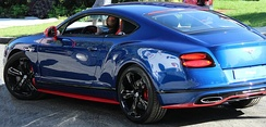 2017 Bentley Continental GT Speed Black Edition (Sequin Blue paint and St. James Red bodykit)