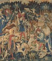 Devonshire Hunting Tapestries, Detail of the Boar and Bear Hunt, Netherlands, mid-15th century