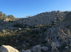 Remains of a fortified village, Borġ in-Nadur, Malta. Borġ in-Nadur is a notable example of Bronze Age-fortifications.