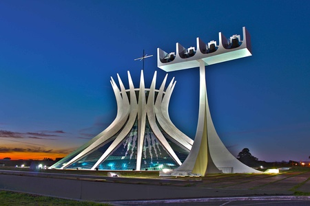 The Cathedral of Brasilia by Oscar Niemeyer (1958–1970)