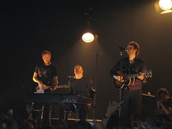 Coldplay performing in Barcelona during their Twisted Logic Tour in 2005