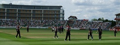 Somerset playing Yorkshire at the County Ground