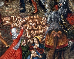 The Massacre of the Innocents (detail) by Lucas Cranach the Elder (c. 1515), National Museum in Warsaw.