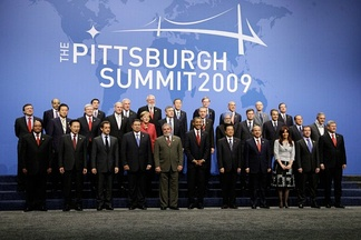 Country leaders at the 2009 G-20 Pittsburgh summit