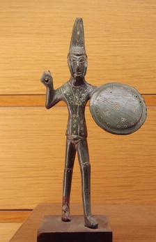 Etruscan warrior, found near Viterbo, Italy, dated c. 500 BC