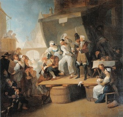 Franz Anton Maulbertsch's The Quack (c. 1785) shows barber surgeons at work.
