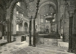 Interior of the Great Synagogue of Florence