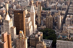 Silicon Alley, once centered around the Flatiron District, is now metonymous for New York's high tech sector, which has since expanded beyond the area.[340]