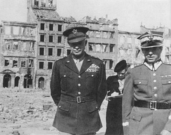 General Eisenhower (left) in Warsaw, Poland, 1945
