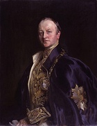 George Nathaniel Curzon by John Cooke – British Conservative statesman who was Viceroy of India and Foreign Secretary. Portrait after John Singer Sargent.