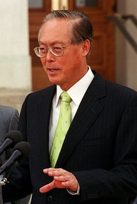 In 1988, First Deputy Prime Minister Goh Chok Tong (pictured here in June 2001) supported GRCs on the ground that they would ensure that Parliament always remained multiracial